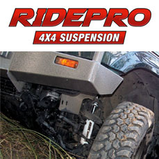 RidePro Suspension - Designed in Australia specifically for 4X4 & 4WD vehicles around the world