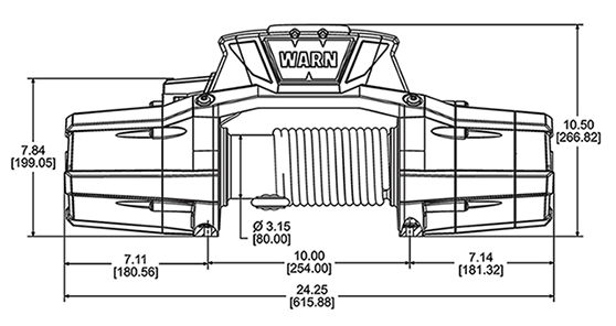 Zeon 12-S Platinum 4x4 Winch by Warn